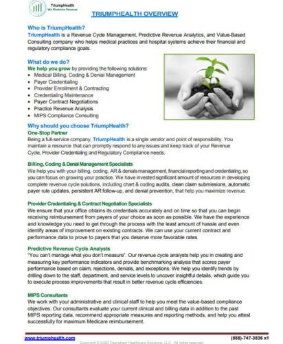 TriumpHealth Services Brochure